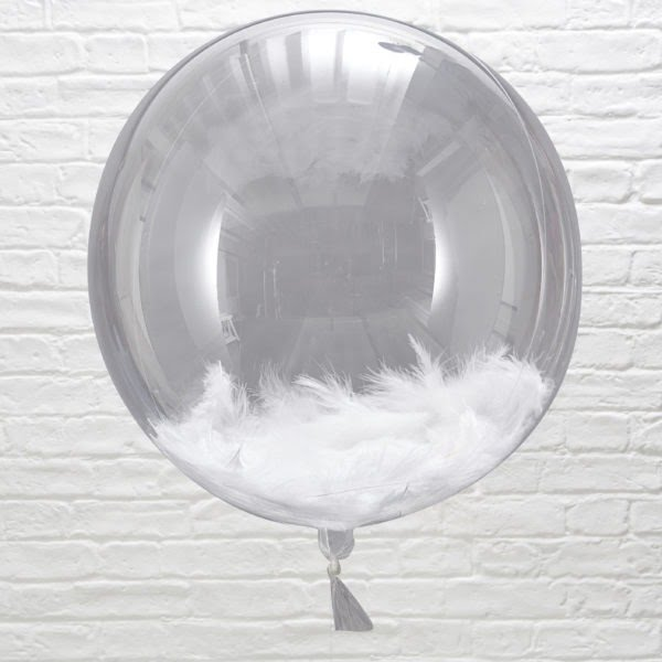 BB-310 Feather Filled Orb Balloon