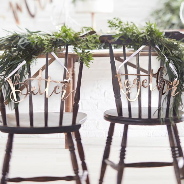 BB-313 Rose Gold Better Together Chair Signs