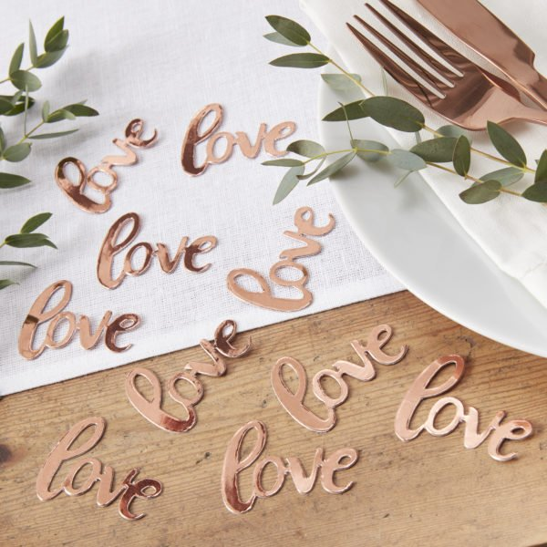 BB-319 Rose Gold Love Confetti