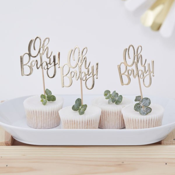 OB-105 Oh Baby Cupcake Toppers