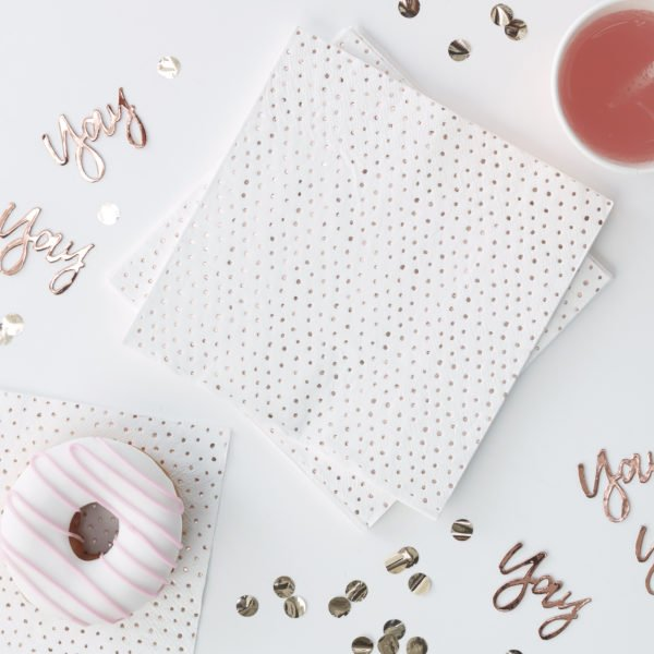 PM-328 Rose Gold Spotty Napkins