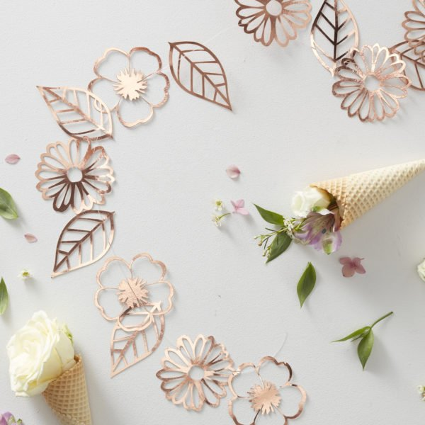 DF-807 Rose Gold Cut Out Garland