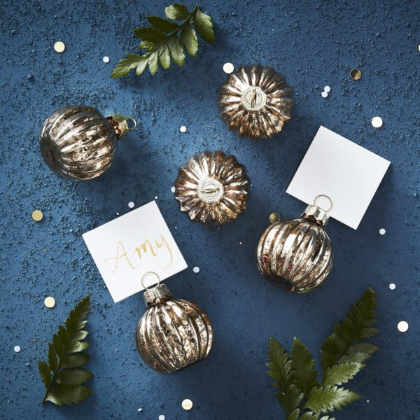 GD-416 Gold Bauble Place Card Holder