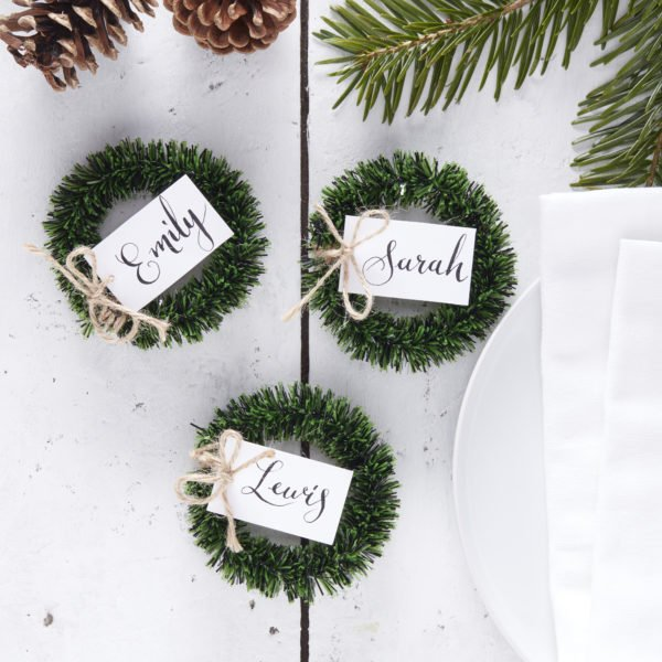 RC-801 Wreath Foliage Place Card