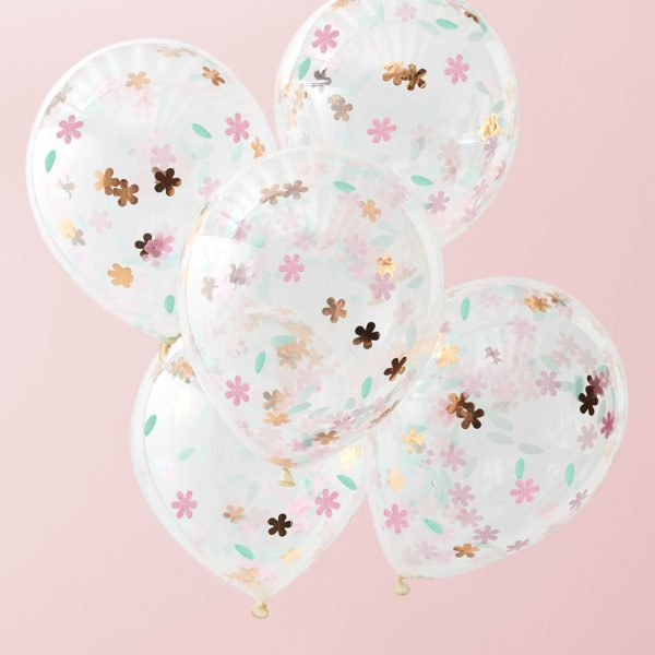 DF-812 Floral Confetti Balloons