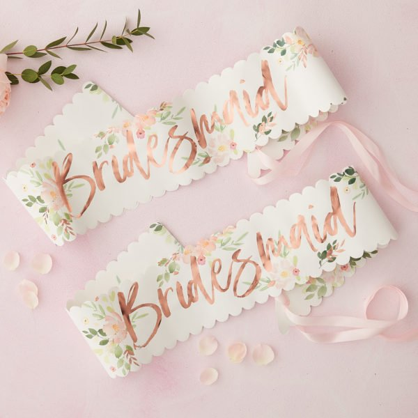 FH-221 Bridesmaid Sashes