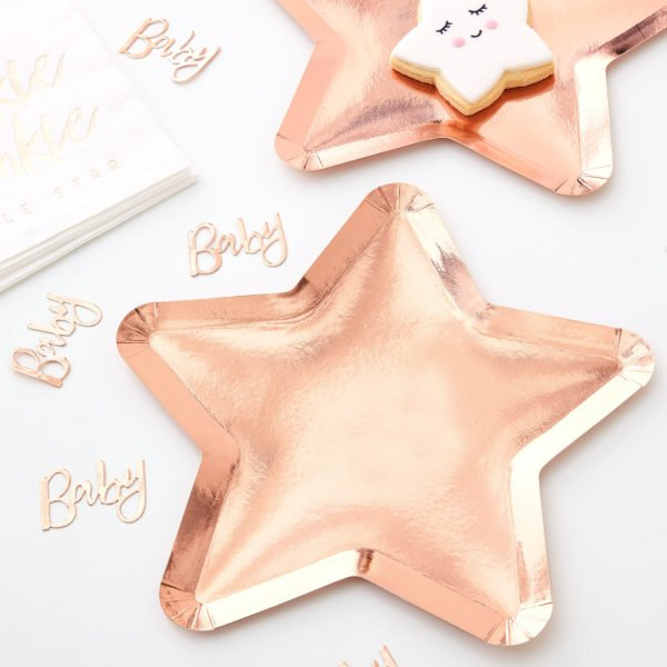 TW-807 Rose Gold Star Shaped Plate